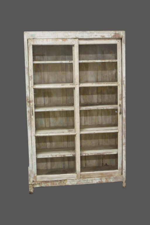 Painted Sliding Door Store Display Cabinet 77 1/2