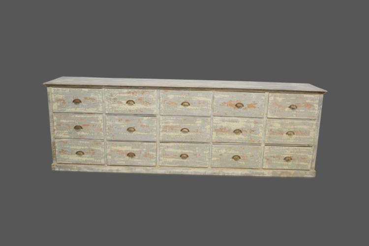 French Store Counter w/ Drawers 40 1/2