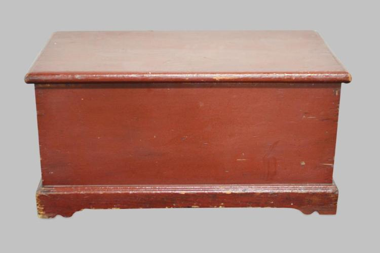 Early Small Pa. Painted Blanket Box 13