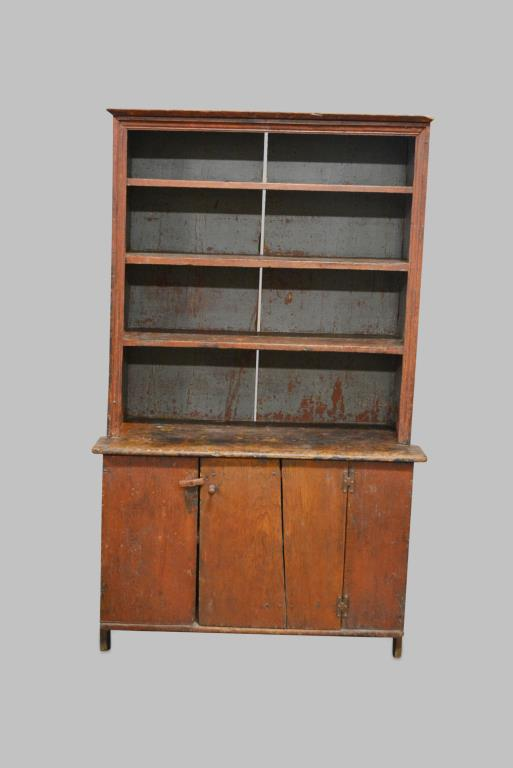 Early 19th Cen. New England Step back Cupboard 71 1/2