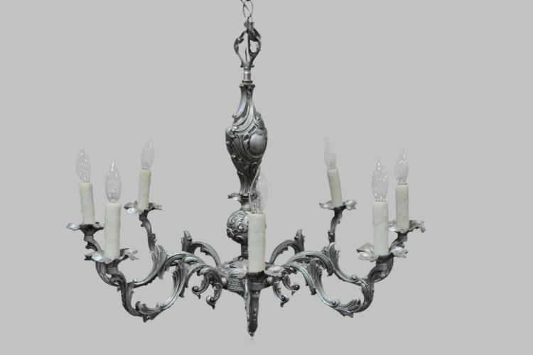 French Metal Chandelier 22