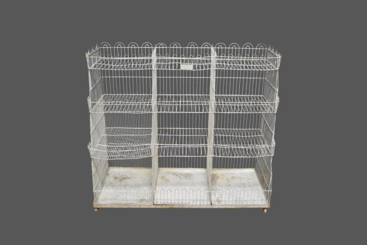 Wire Produce Cubby Unit 44