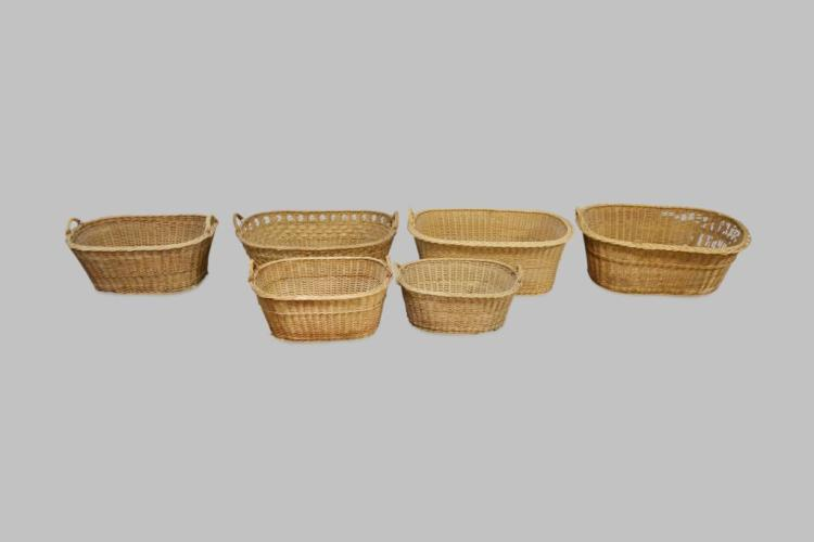 6pc. Lot of Baskets biggest - 11 1/2
