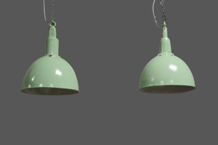 Painted Industrial Hanging Light X-2 22