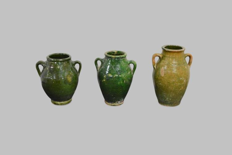French Glazed Olive Jar X-3 12 1/2
