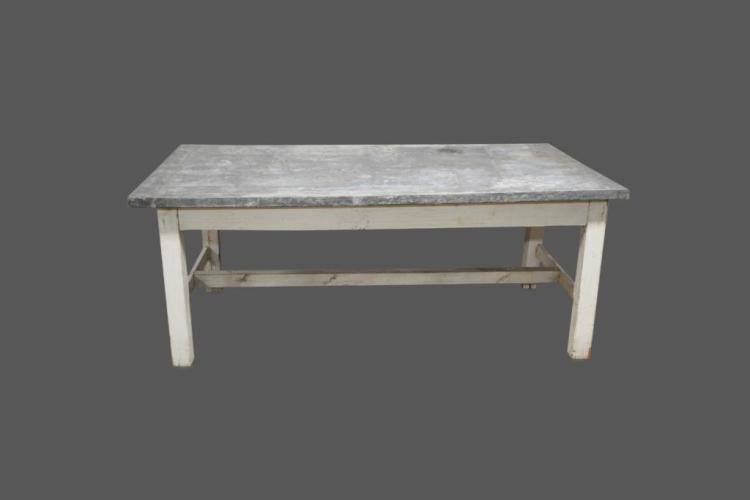 Painted Zinc Top Work Table 32