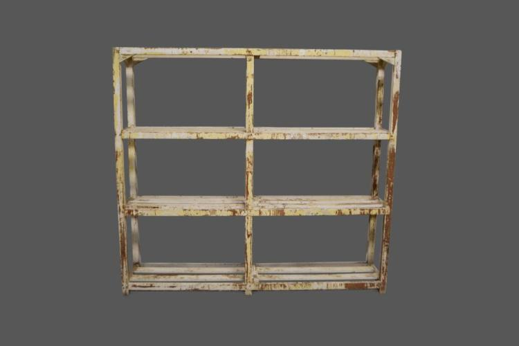 Painted Country Store Display Rack 72 1/4