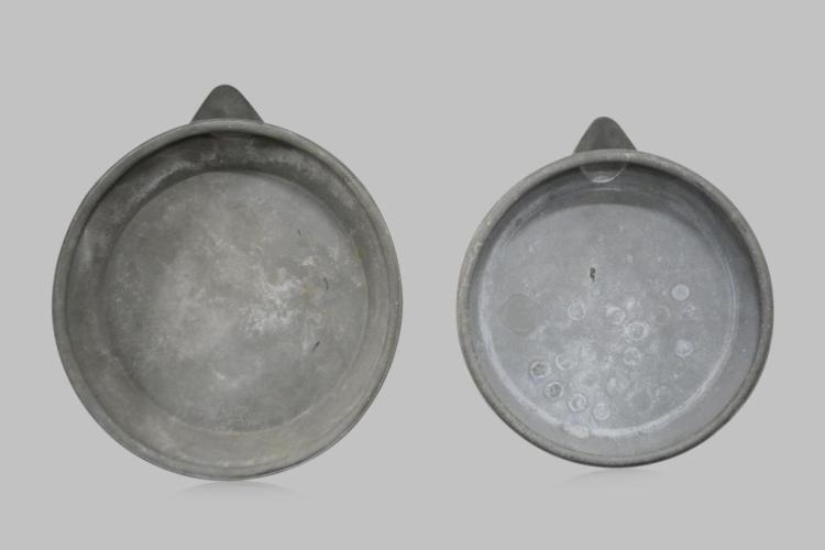 French Zinc Sorting Pan X-2 5 1/2