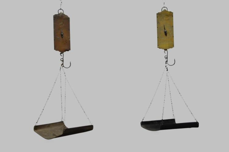 2pc. Lot of General Store Hanging Scales 31 1/2