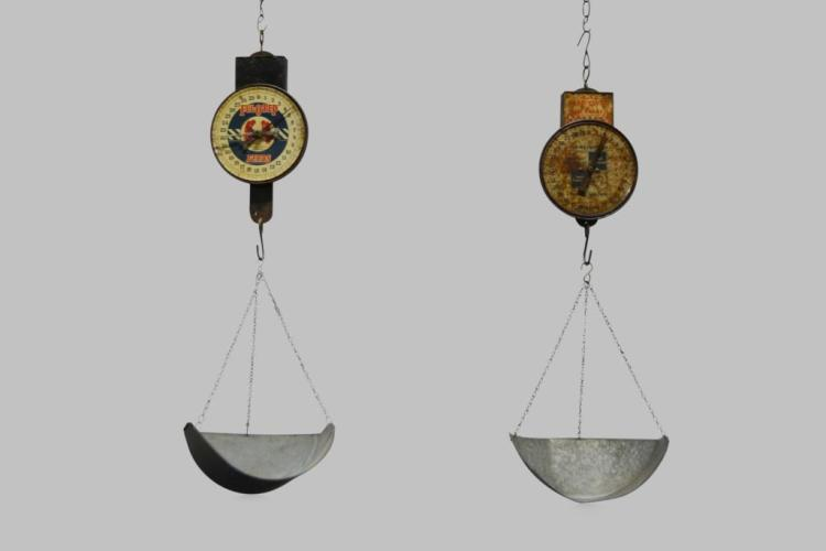 2pc. Lot of General Store Hanging Scales 34