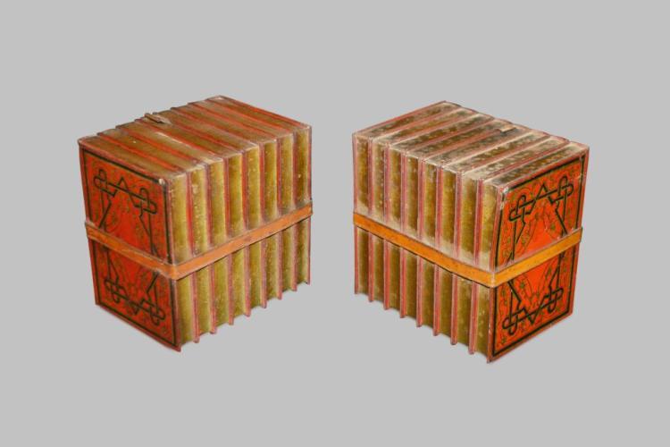 "Huntley & Palmer Book Tin X2 6 1 4"" x 6 3 4"" x 5"" ea"