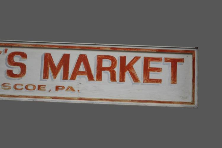 Johnny 39 s market wooden trade sign 25 x 144 3 4 for Johnny s fish market