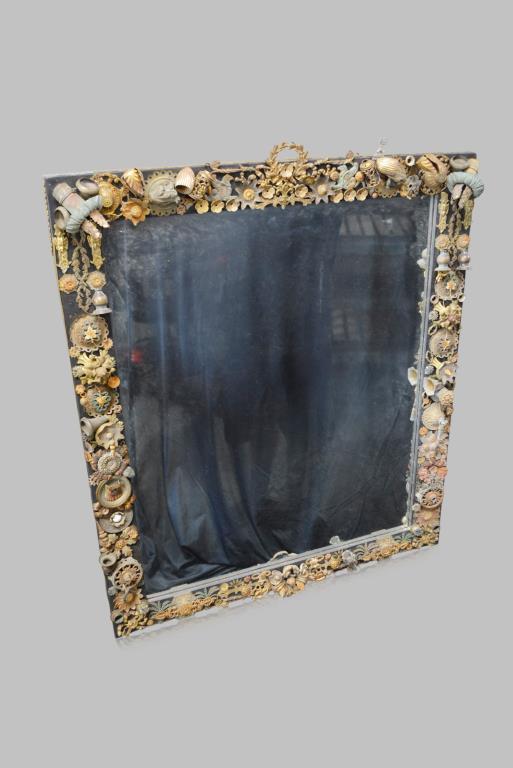 Metal folk art mirror 42 1 2 x 36 1 2 for Mirror 42 x 36