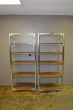 Industrial Rack on Wheels X2  SIZE- 69 1/2