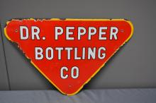 Procelain Dr. Pepper Bottling Co. Sign  SIZE- 14 1/2