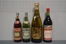 Vintage Bar Display Bottles X4 19 3/4