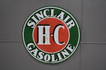 Double-sided Porcelain Sinclair Gasoline Sign  SIZE- 48