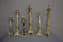 6 Piece Early Picket Stick Lot 18 1/4