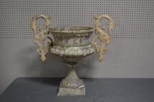 Vintage Cast Aluminum Garden Urn SIZE- 31 1/2