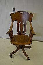 Oak Office Chair X2