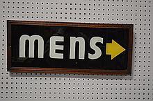 Mens- Sign 10 3/4