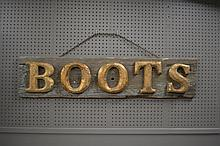 Boot Sign 11 1/4