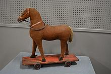 Early Child's Horse Toy on Wheels 24
