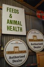 3 Piece Feed Sign Lot