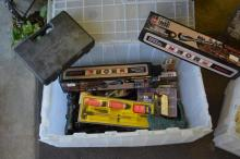 Group Lot of Gun Accessories Scopes, Cleaning Kit,Clips,Pistol Grips