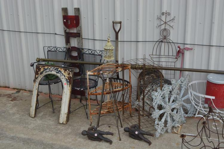 Assorted Garden Group Lot Chairs Edging Etc