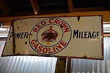 2 Piece Sign Lot Red Crown Gas & Nationwide Grocers