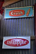 Advertising Signs- Orange Crush & Dr. Pepper X2