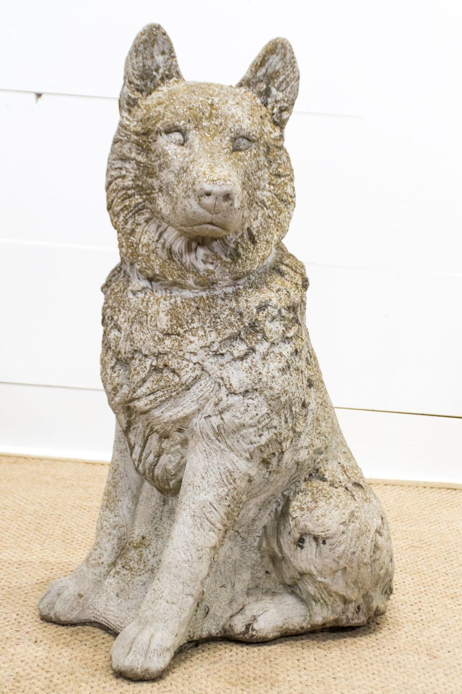 "Crushed Stone Shepherd Dog 33""H, 20"" x 18 1/2"""