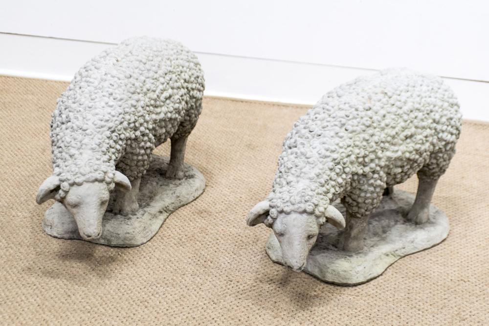 """Concrete Sheep X-2 16""""H, 27 1/2"""" x 10 1/2"""" ea."""