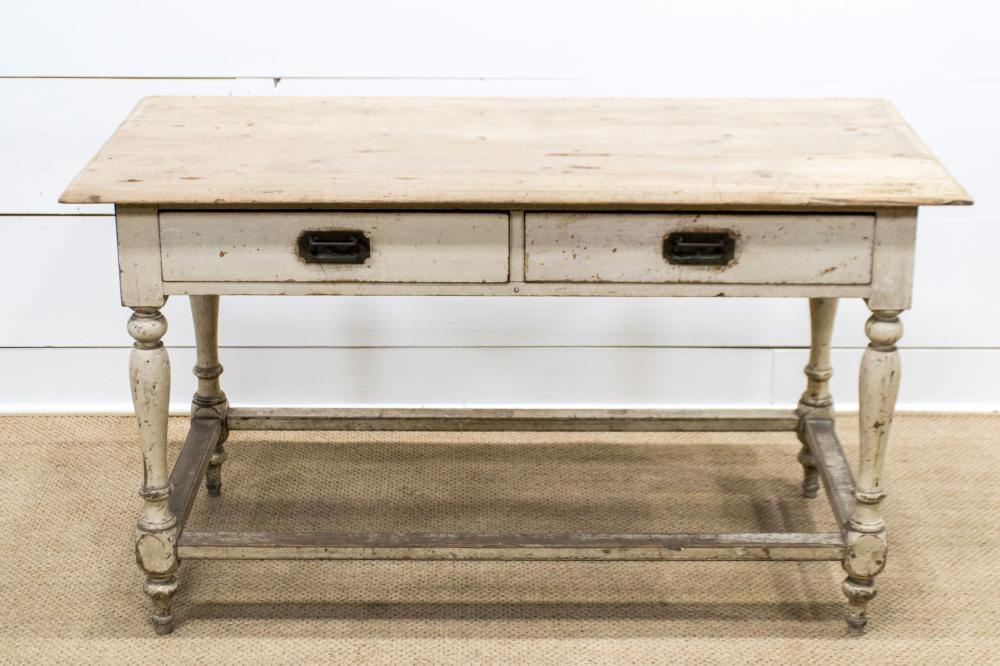 """French Work Table w/ Drawers 31""""H, 54"""" x 26"""""""