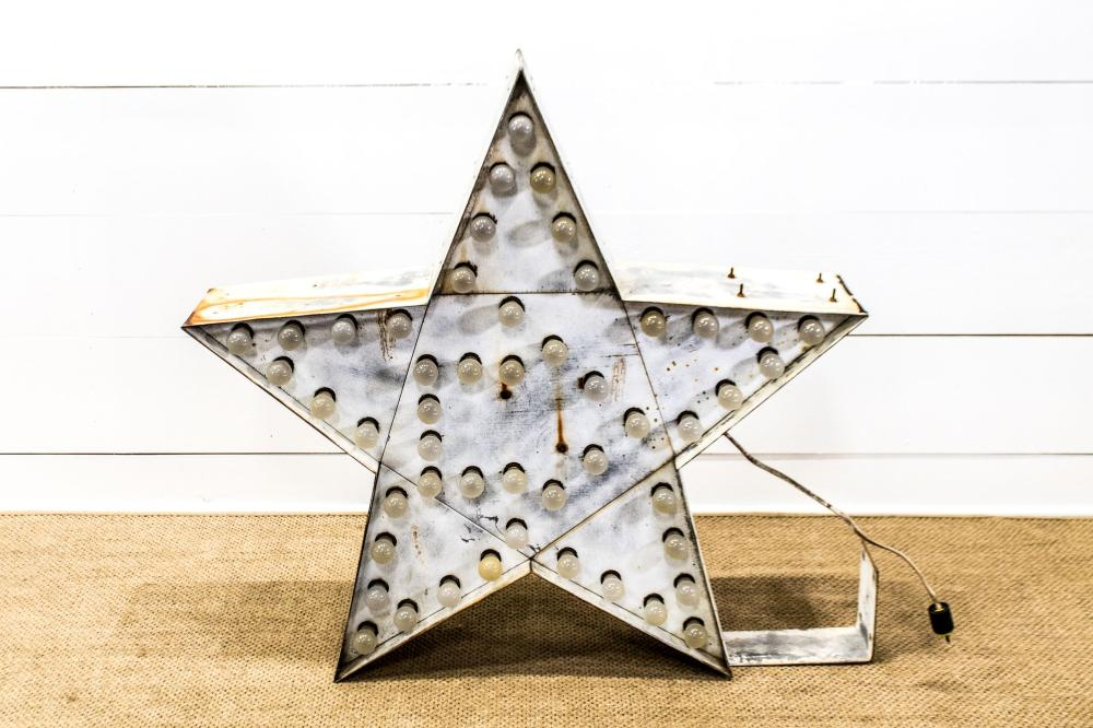 """Lighted Star - double sided 45 1/2""""H, 50"""" x 10 1/2"""""""
