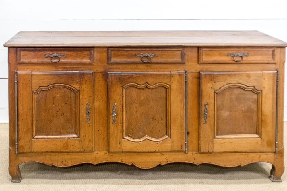 """Early 19th C. Country French Server 39 1/2""""H, 79"""" x 25"""""""