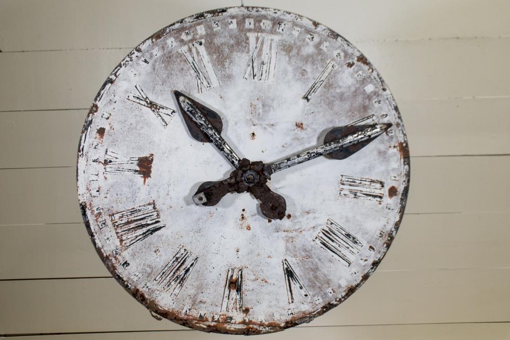 "French Metal Clock Face 39"" diam."
