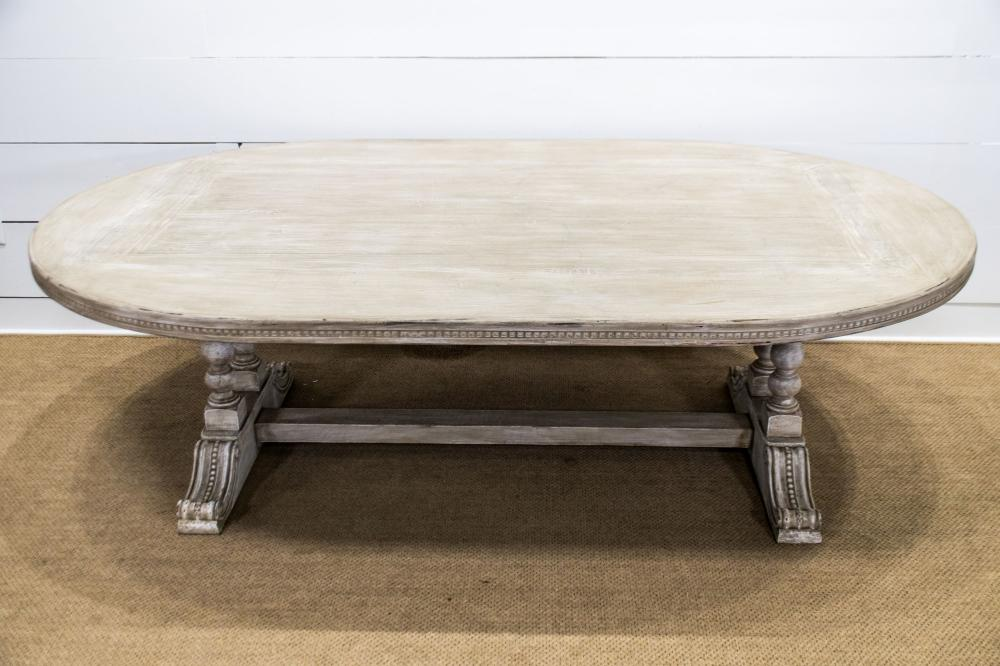 """Italian Oval Painted Dining Table 30""""H, 97"""" x 59 1/2"""