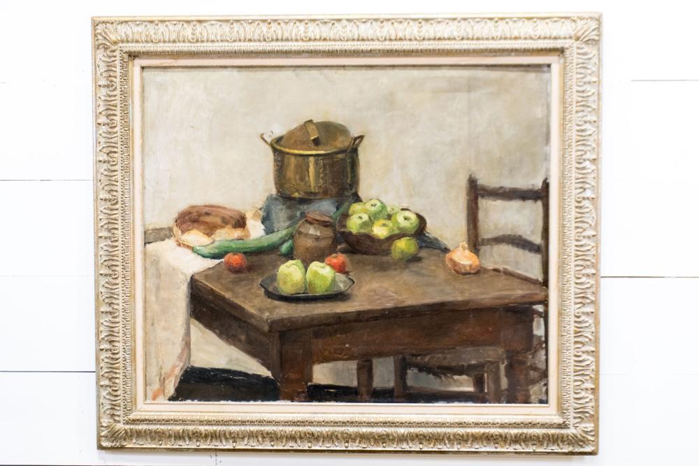 "Oil on Canvas - Still Life 51"" x 58 1/2"""