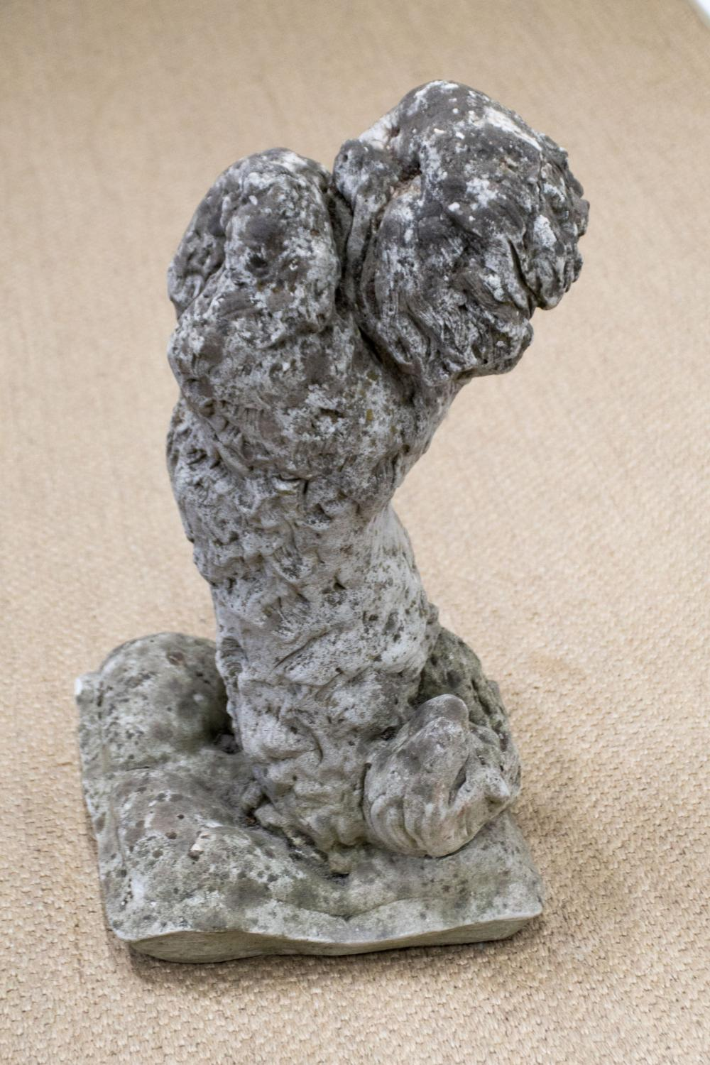 """French Crushed Stone Poodle 25 1/2""""H, 14"""" x 14"""""""