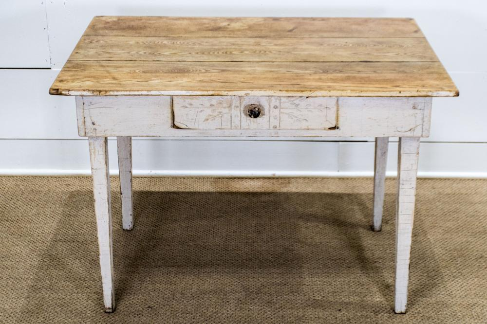 """Painted Work Table w/ Drawer 29""""H, 42"""" x 30 1/2"""""""