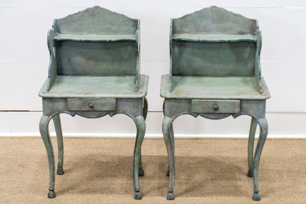 """Country French Painted Night Stand X-2 33""""H, 18 1/2"""" x 14"""" ea."""