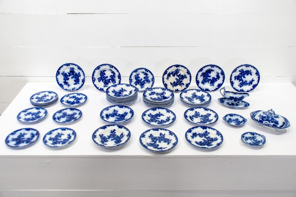 Group Lot of Flo Blue Dishes