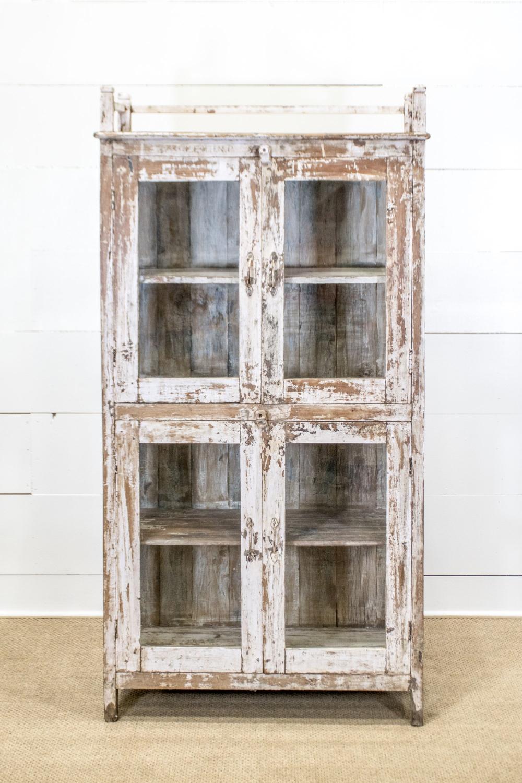 "Painted Display Cupboard 71 1/2""H, 37"" x 17"""