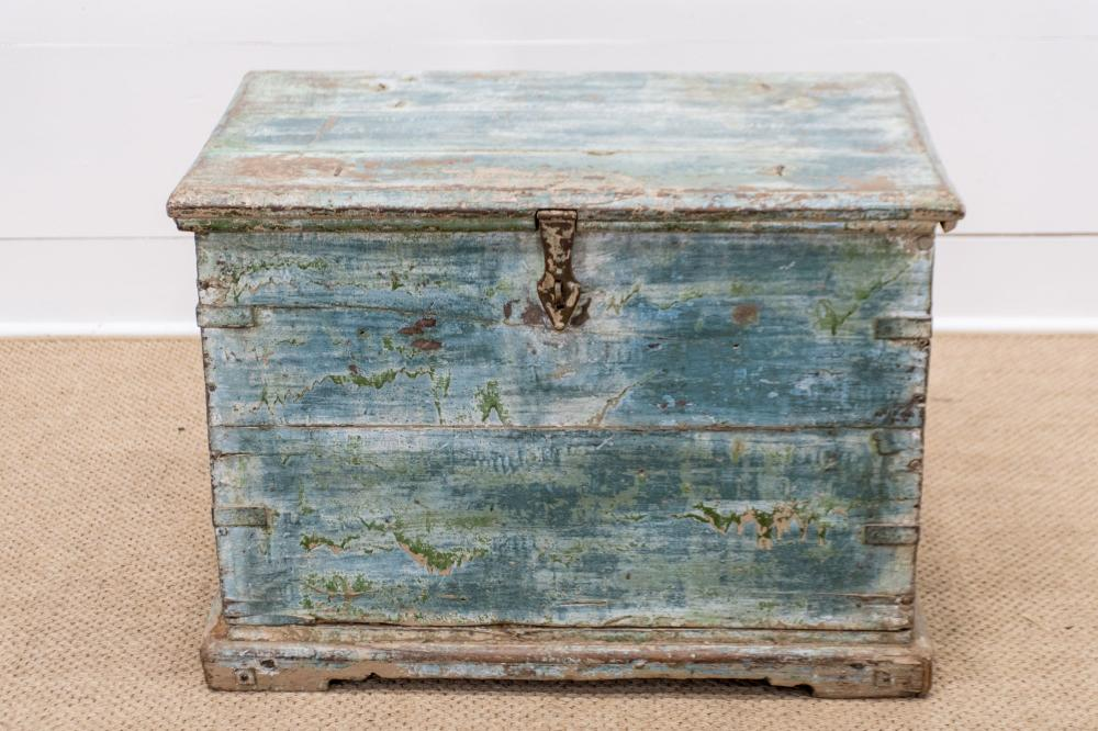 """Painted Trunk 21 1/2""""H, 30"""" x 20"""""""