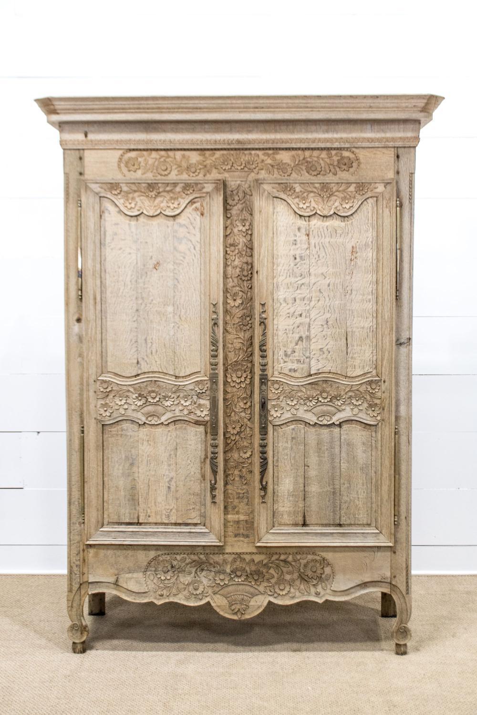 "19th C. French Two Door Cupboard w/ Key 86 1/2""H, 63"" x 20"""