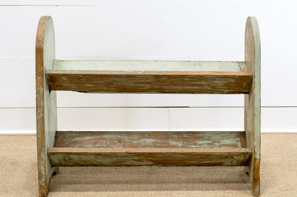 """Painted Book Rack 30""""H, 37"""" x 11"""""""