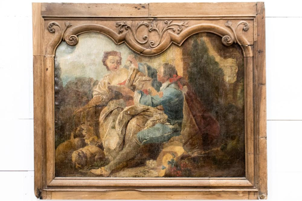 """Late 18th C. French Painting 42"""" x 50"""""""