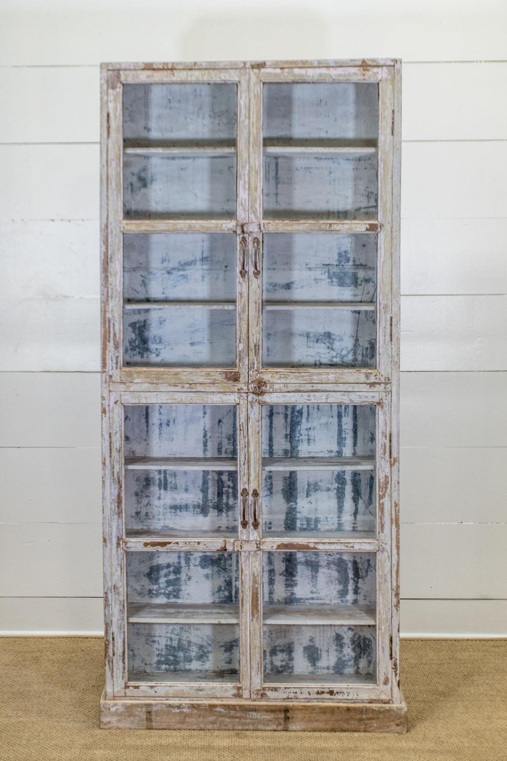"""Painted Store Display Cabinet 81 1/2""""H, 37 1/2"""" x 9"""""""